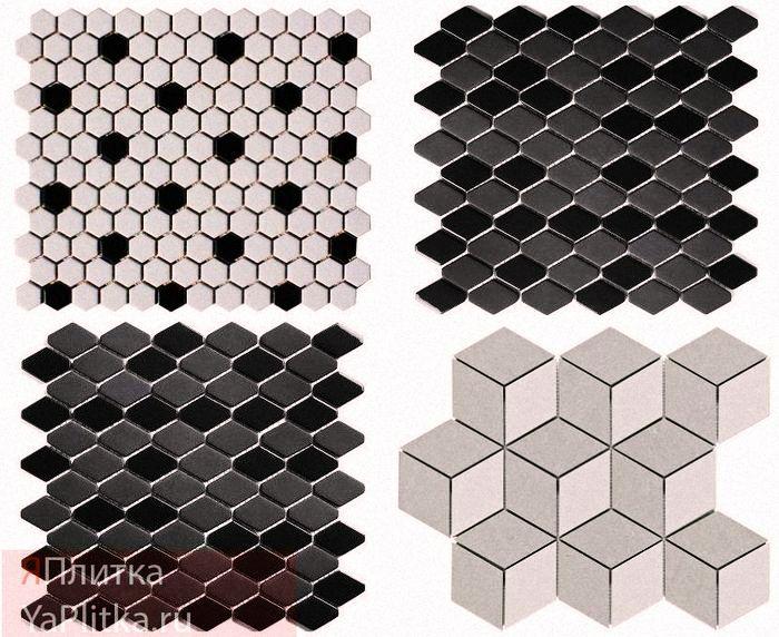 плитка с мозаикой в ванной