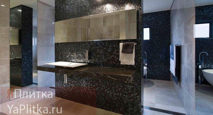 дизайн ванной комнаты плитка мозаика