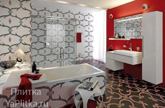 дизайн ванны плитка мозаика