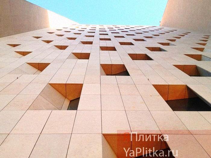 фасад из керамогранита технология