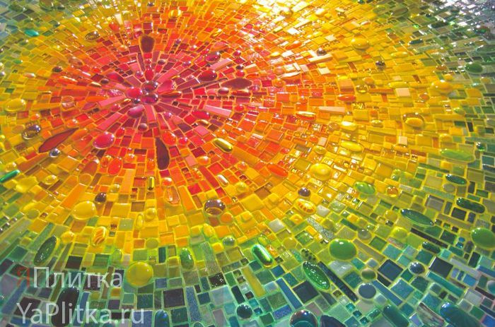 матричное панно из мозаики