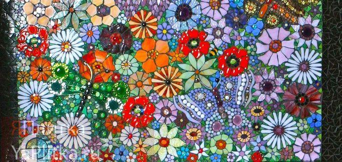 панно из мозаики для кухни