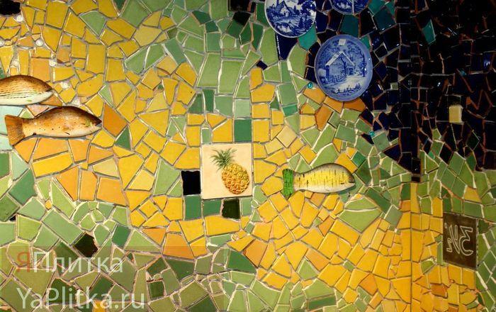 желтая мозаика для ванной
