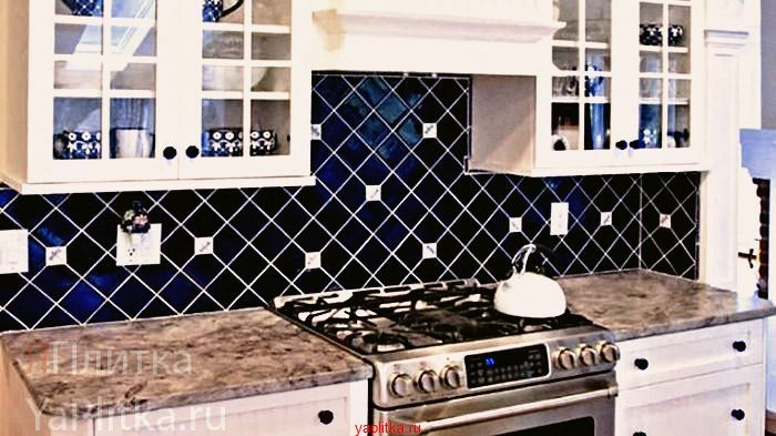 керамическая плитка на кухню фартук