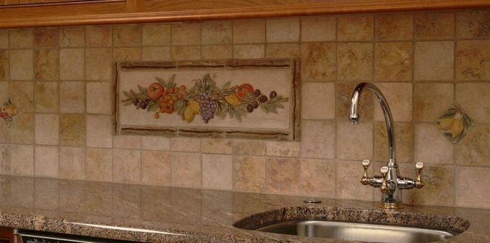 панно керамическая плитка для кухни