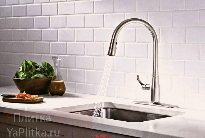 плитка белая керамическая для кухни