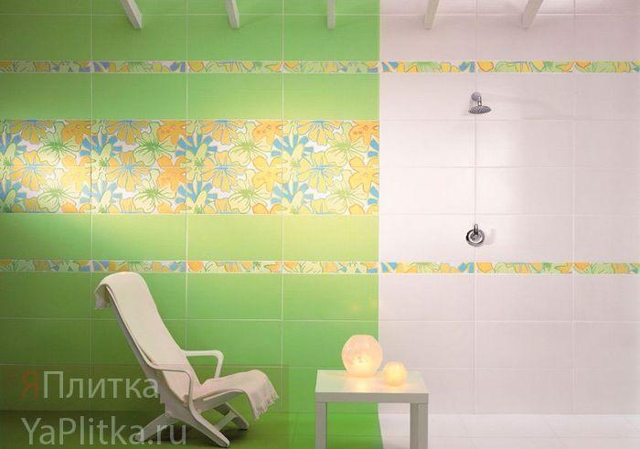 плитка керамическая для ванной зеленая