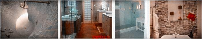 варианты керамической плитки в ванной