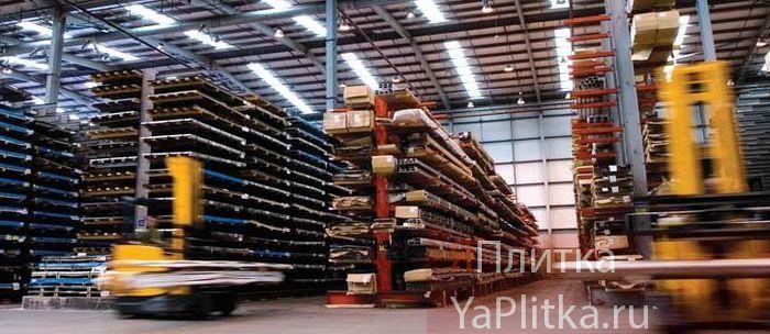хранение керамической плитки на складе