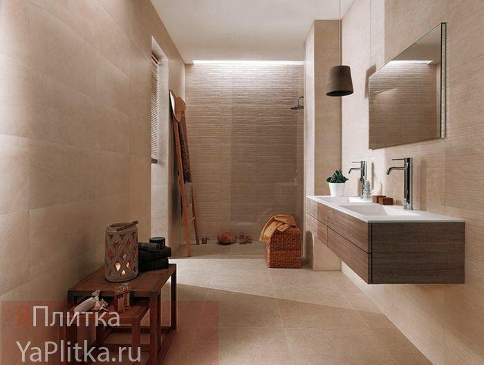 плитка керамическая для ванной бежевая
