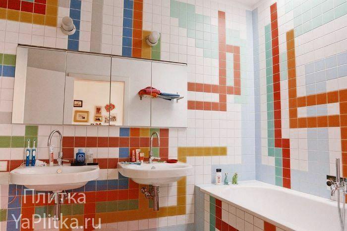 яркая керамическая плитка для ванной