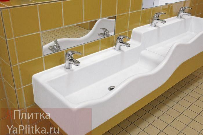 желтая керамическая плитка для ванной