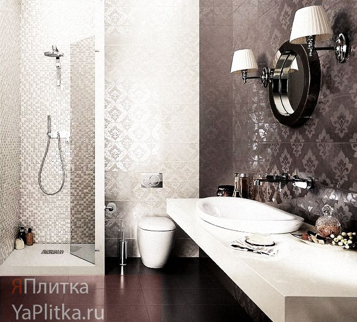 варианты плитки для ванной