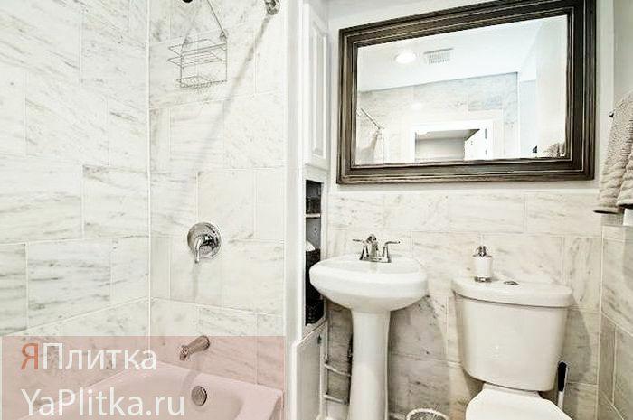 плитка для ванной под мрамор