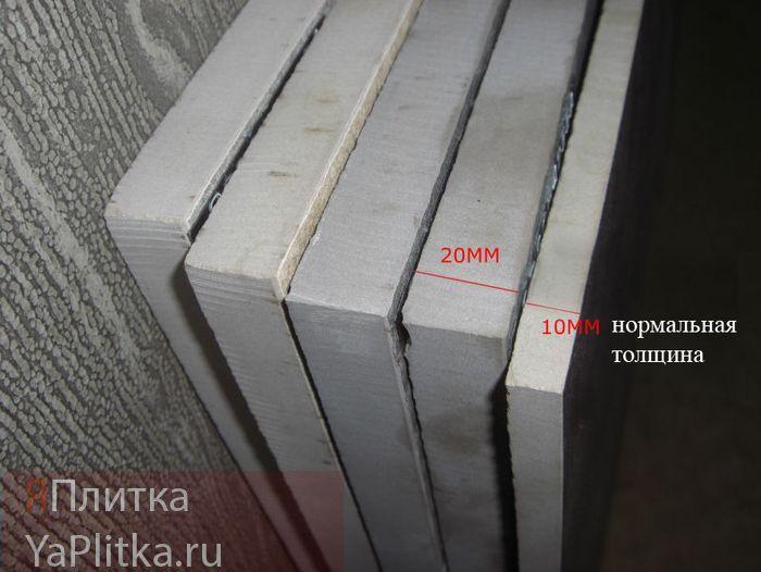 толщина керамической плитки для пола