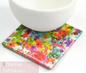 керамическая плитка декор цветы