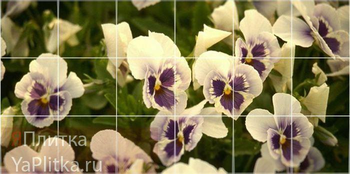 керамическая плитка с цветами
