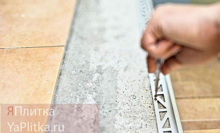 алюминиевые уголки для керамической плитки