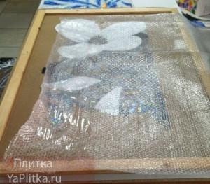 как класть мозаику на сетке