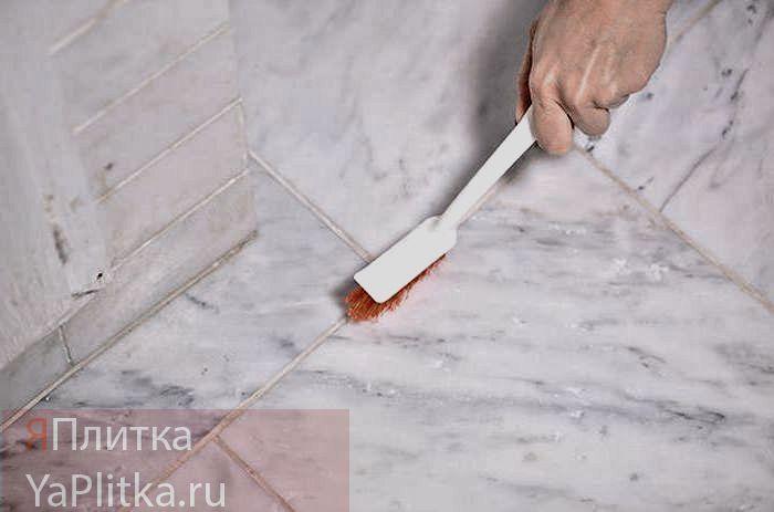 как очистить швы на кафеле