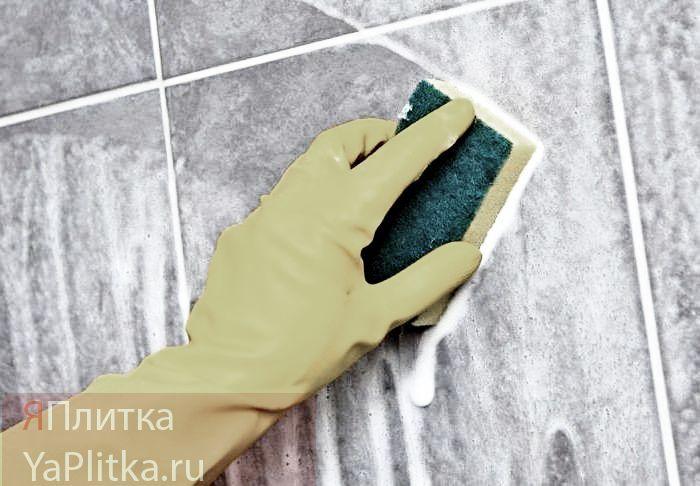 как отмыть кафель в ванной от налета