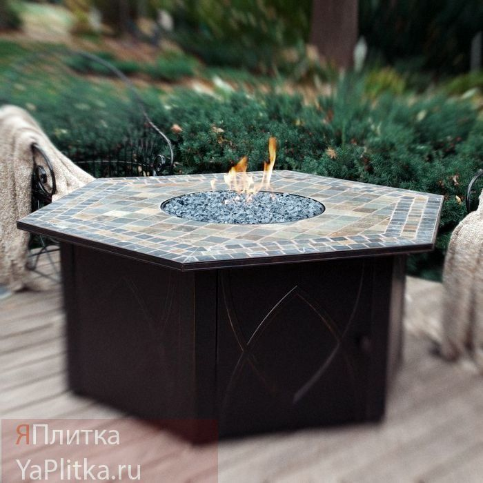 кухонный стол с керамической плиткой овальный