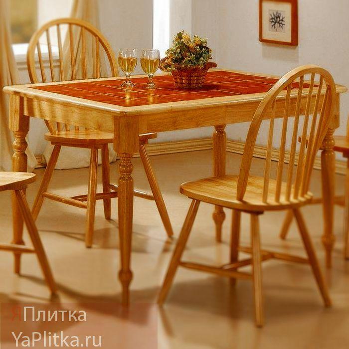 столы для кухни с керамической плиткой