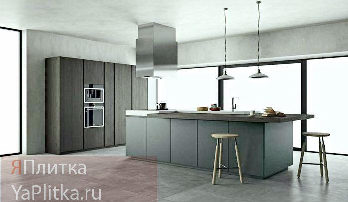 плитка больших размеров для кухни