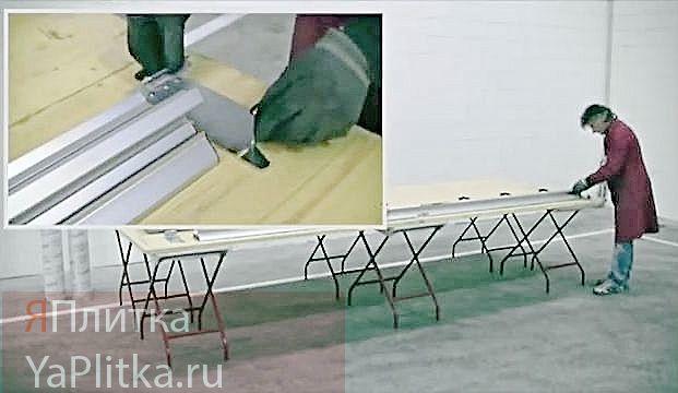 система укладки плитки большого формата