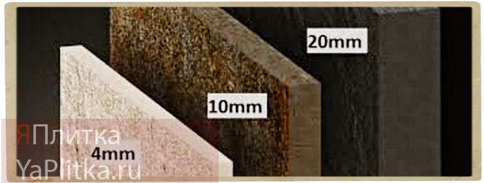 толщина настенной керамической плитки