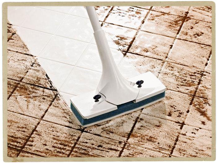 очистка напольной плитки