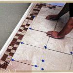 как выложить плиткой пол