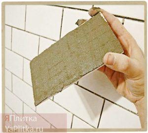 выравнивание стен клеем для плитки