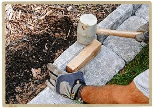 клумбы из природного камня своими руками фото