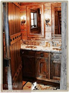 ванна в стиле кантри плитка