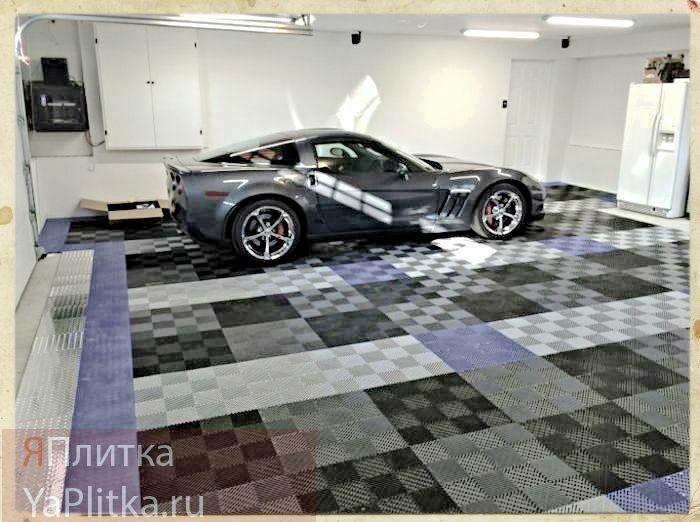 плитка для гаража на пол