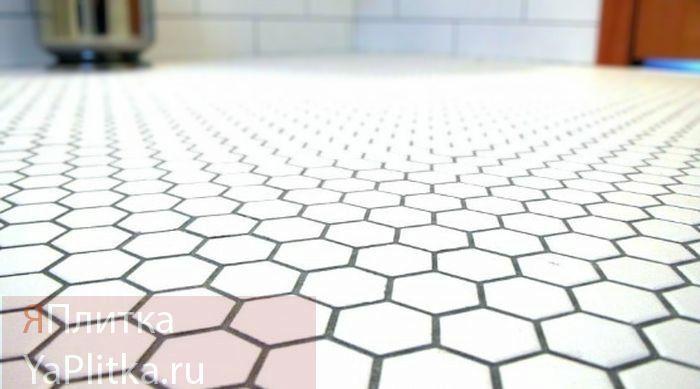 плитка напольная шестигранная