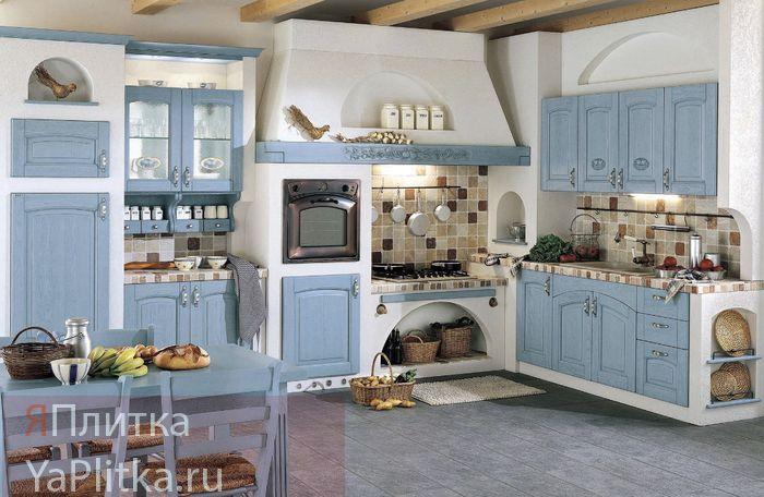 керамическая плитка в стиле прованс для кухни