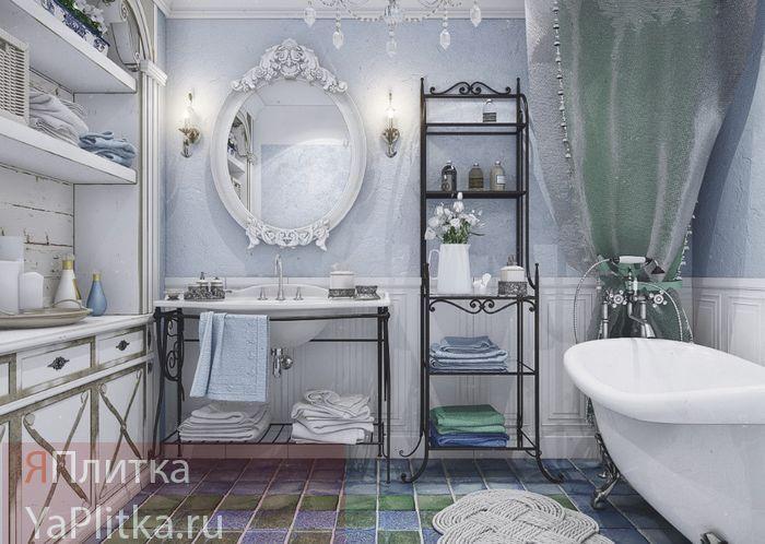 плитка для ванной комнаты прованс