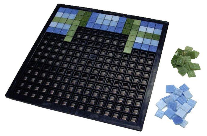 мозаика плитка на сетке