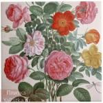 керамическая плитка для ванной розы