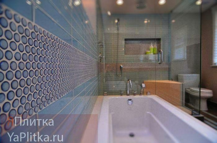 панно из плитки для ванной комнаты фото