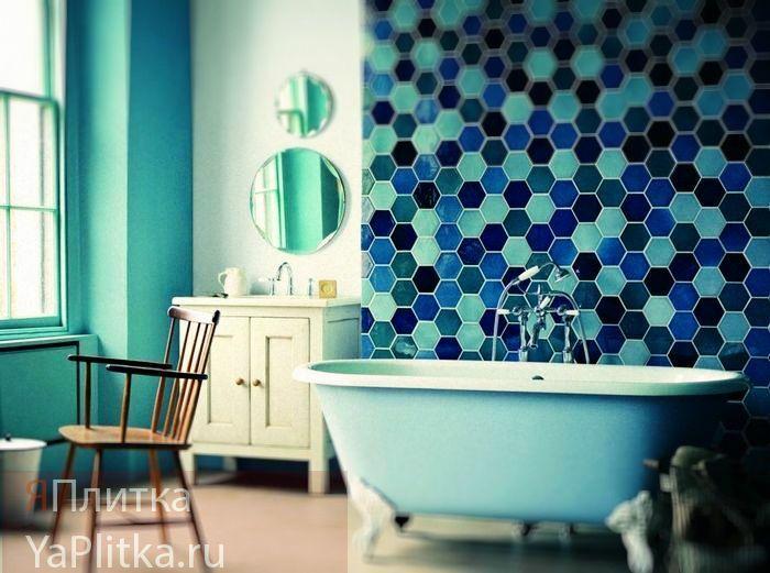 панно в ванную комнату из плитки фото
