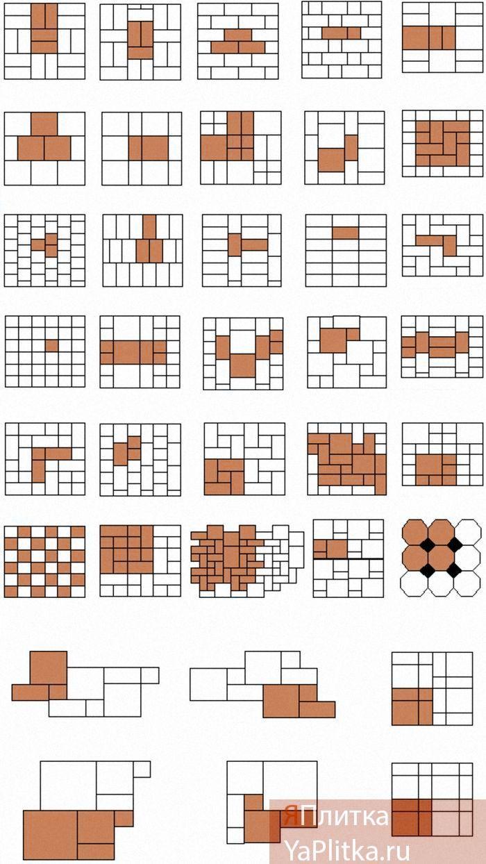 размеры керамической плитки для пола