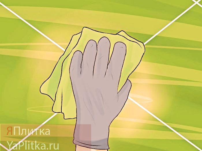 как очистить кафель в ванной от плесени