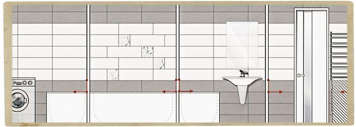 дизайн ванной комнаты раскладка плитки
