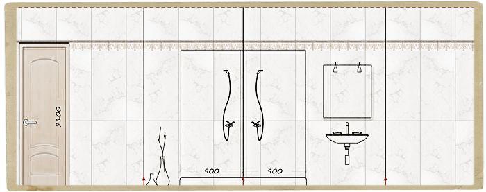план раскладки плитки в ванной
