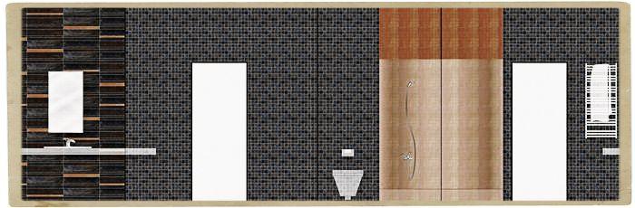 примеры раскладки плитки в ванной