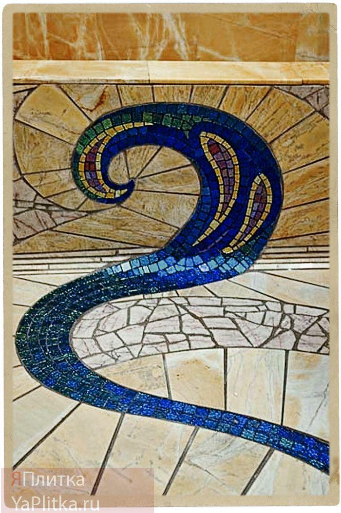 дизайн ванной мозаичной плиткой