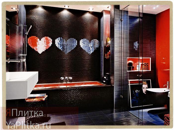 дизайн ванной с мозаичной плиткой фото